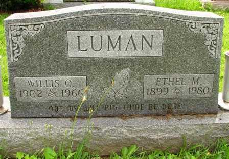 LUMAN, WILLIS O. - Seneca County, Ohio | WILLIS O. LUMAN - Ohio Gravestone Photos