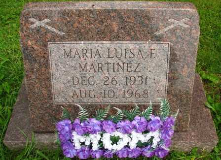 MARTINEZ, MARIA LUISA F. - Seneca County, Ohio | MARIA LUISA F. MARTINEZ - Ohio Gravestone Photos