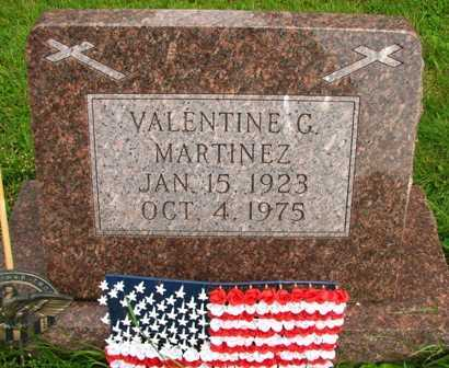 MARTINEZ, VALENTINE G. - Seneca County, Ohio | VALENTINE G. MARTINEZ - Ohio Gravestone Photos