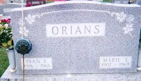 ORIANS, MARIE T. - Seneca County, Ohio | MARIE T. ORIANS - Ohio Gravestone Photos