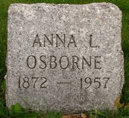 OSBORNE, ANNA L. - Seneca County, Ohio | ANNA L. OSBORNE - Ohio Gravestone Photos