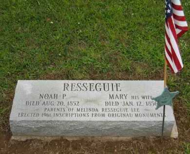 RESSEGUIE, MARY - Seneca County, Ohio | MARY RESSEGUIE - Ohio Gravestone Photos