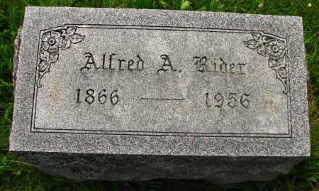 RIDER, ALFRED - Seneca County, Ohio | ALFRED RIDER - Ohio Gravestone Photos