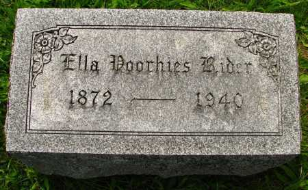 VOORHIES RIDER, ELLA - Seneca County, Ohio | ELLA VOORHIES RIDER - Ohio Gravestone Photos