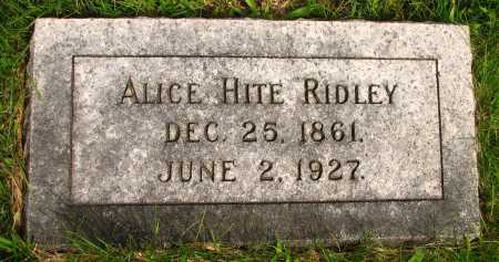 RIDLEY, ALICE - Seneca County, Ohio | ALICE RIDLEY - Ohio Gravestone Photos
