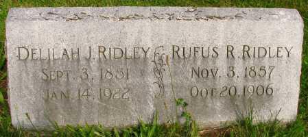 RIDLEY, DELILAH - Seneca County, Ohio | DELILAH RIDLEY - Ohio Gravestone Photos
