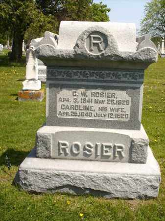 ROSIER, CAROLINE - Seneca County, Ohio | CAROLINE ROSIER - Ohio Gravestone Photos