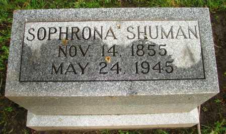 SHUMAN, SOPHRONA - Seneca County, Ohio | SOPHRONA SHUMAN - Ohio Gravestone Photos