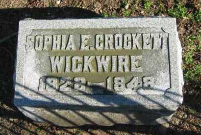 CROCKETT WICKWIRE, SOPHIA E. - Seneca County, Ohio | SOPHIA E. CROCKETT WICKWIRE - Ohio Gravestone Photos