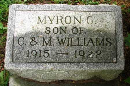 WILLIAMS, MYRON - Seneca County, Ohio | MYRON WILLIAMS - Ohio Gravestone Photos