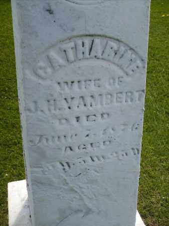 YAMBERT, CATHARINE - Seneca County, Ohio | CATHARINE YAMBERT - Ohio Gravestone Photos