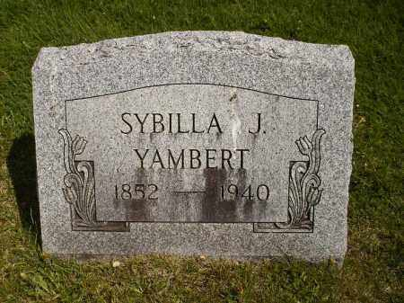 YAMBERT, SYBILLA JANE - Seneca County, Ohio | SYBILLA JANE YAMBERT - Ohio Gravestone Photos