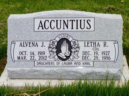 ACCUNTIUS COIL, LETHA - Shelby County, Ohio | LETHA ACCUNTIUS COIL - Ohio Gravestone Photos