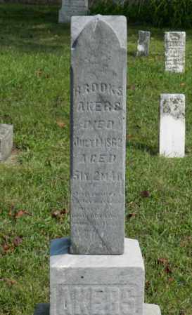 AKERS, BROOKS - Shelby County, Ohio | BROOKS AKERS - Ohio Gravestone Photos