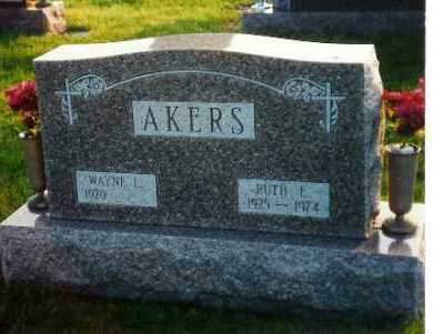 SHOFFNER AKERS, RUTH - Shelby County, Ohio | RUTH SHOFFNER AKERS - Ohio Gravestone Photos