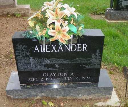 ALEXANDER, CLAYTON A. - Shelby County, Ohio | CLAYTON A. ALEXANDER - Ohio Gravestone Photos