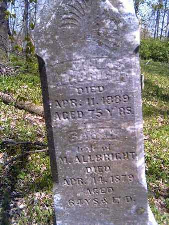 ALLBRIGHT, SARAH - Shelby County, Ohio | SARAH ALLBRIGHT - Ohio Gravestone Photos