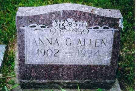 ALLEN, ANNA GERTIE - Shelby County, Ohio | ANNA GERTIE ALLEN - Ohio Gravestone Photos