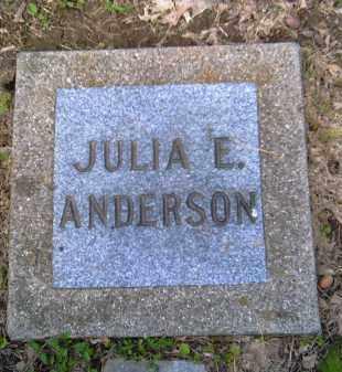 ANDERSON, JULIA E. - Shelby County, Ohio | JULIA E. ANDERSON - Ohio Gravestone Photos
