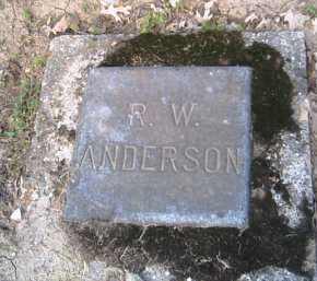 ANDERSON, R. W. - Shelby County, Ohio | R. W. ANDERSON - Ohio Gravestone Photos