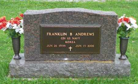 ANDREWS, FRANKLIN B. - Shelby County, Ohio | FRANKLIN B. ANDREWS - Ohio Gravestone Photos
