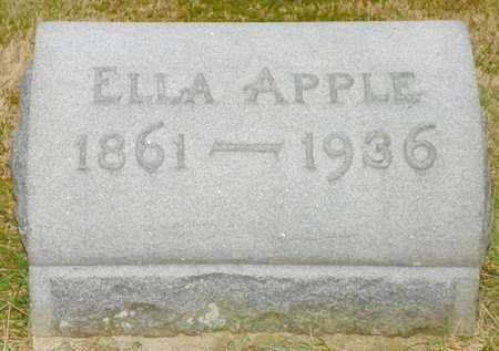 APPLE, ELLA - Shelby County, Ohio | ELLA APPLE - Ohio Gravestone Photos