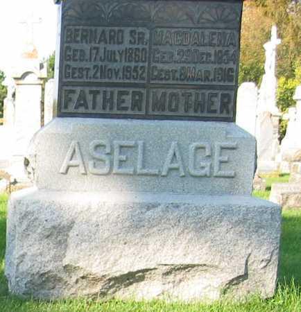 ASELAGE, BERNARD SR. - Shelby County, Ohio | BERNARD SR. ASELAGE - Ohio Gravestone Photos