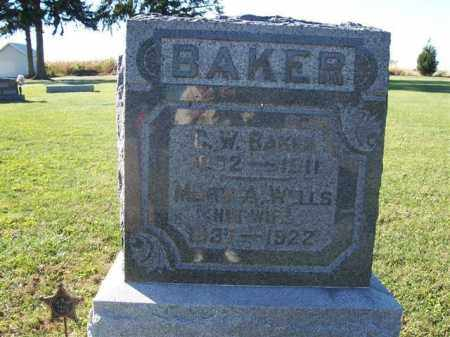 BAKER, C W - Shelby County, Ohio | C W BAKER - Ohio Gravestone Photos