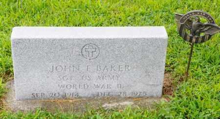 BAKER, JOHN F. - Shelby County, Ohio | JOHN F. BAKER - Ohio Gravestone Photos