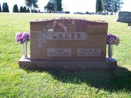 BAKER, ZULA BELLE ALLEN - Shelby County, Ohio | ZULA BELLE ALLEN BAKER - Ohio Gravestone Photos