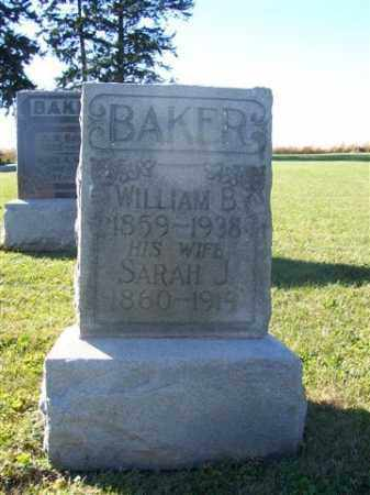 BAKER, WILLIAM B - Shelby County, Ohio | WILLIAM B BAKER - Ohio Gravestone Photos