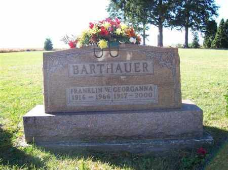BARTHAUER, FRANKLIN W - Shelby County, Ohio | FRANKLIN W BARTHAUER - Ohio Gravestone Photos