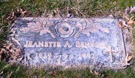 BENSON, JEANETTE A. - Shelby County, Ohio | JEANETTE A. BENSON - Ohio Gravestone Photos
