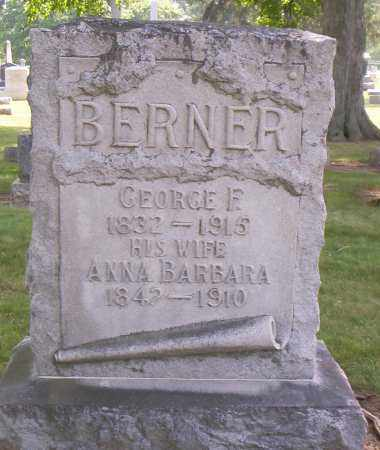 BERNER, ANNA BARBARA - Shelby County, Ohio | ANNA BARBARA BERNER - Ohio Gravestone Photos