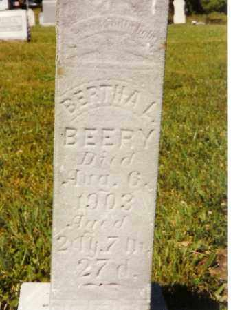 BEERY, BERTHA L. - Shelby County, Ohio | BERTHA L. BEERY - Ohio Gravestone Photos