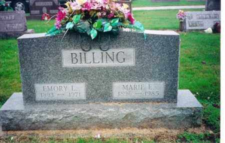 BILLING, EMORY L - Shelby County, Ohio | EMORY L BILLING - Ohio Gravestone Photos