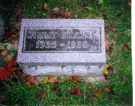 BILLING, JIMMY - Shelby County, Ohio | JIMMY BILLING - Ohio Gravestone Photos