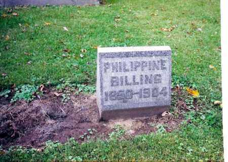 BILLING, PHILIPPINE GEIG - Shelby County, Ohio | PHILIPPINE GEIG BILLING - Ohio Gravestone Photos