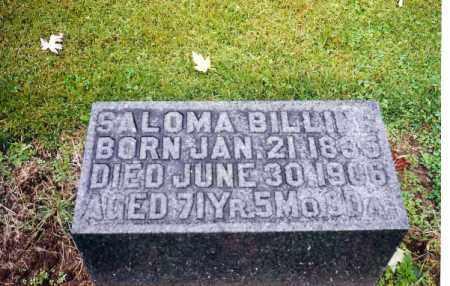 BILLING, SOLOMA - Shelby County, Ohio | SOLOMA BILLING - Ohio Gravestone Photos