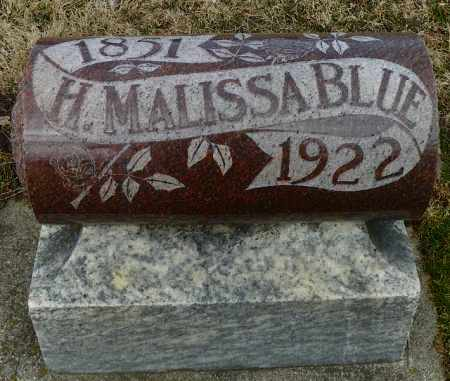 BLUE, H. MALISSA - Shelby County, Ohio | H. MALISSA BLUE - Ohio Gravestone Photos