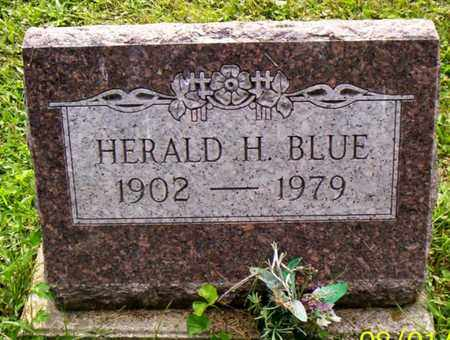 BLUE, HERALD H. - Shelby County, Ohio | HERALD H. BLUE - Ohio Gravestone Photos