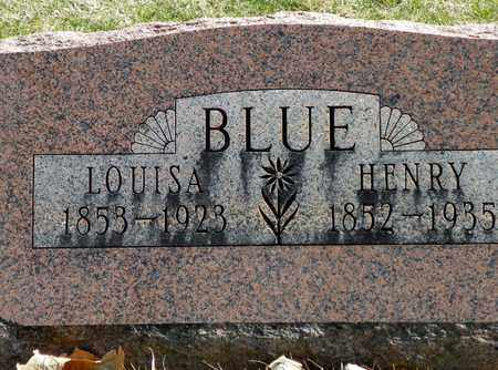 BLUE, LOUISA - Shelby County, Ohio | LOUISA BLUE - Ohio Gravestone Photos