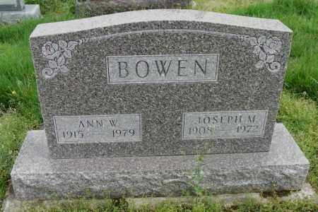 BOWEN, ANN W. - Shelby County, Ohio | ANN W. BOWEN - Ohio Gravestone Photos