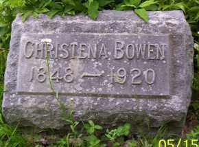 BOWEN, CHRISTENA - Shelby County, Ohio | CHRISTENA BOWEN - Ohio Gravestone Photos