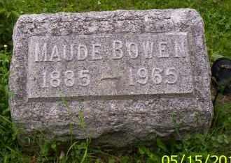 BOWEN, MAUDE - Shelby County, Ohio | MAUDE BOWEN - Ohio Gravestone Photos