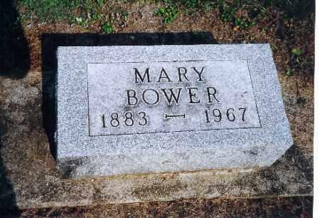 BOWER, MARY - Shelby County, Ohio | MARY BOWER - Ohio Gravestone Photos