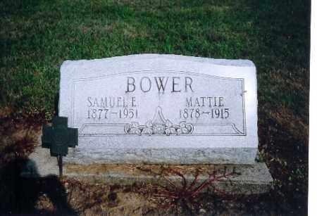 BOWER, SAMUAL E - Shelby County, Ohio | SAMUAL E BOWER - Ohio Gravestone Photos