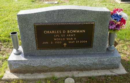 BOWMAN, CHARLES D. - Shelby County, Ohio | CHARLES D. BOWMAN - Ohio Gravestone Photos