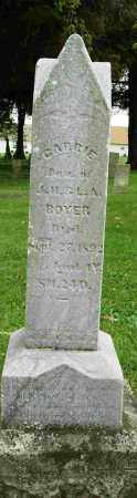BOYER, CARRIE - Shelby County, Ohio | CARRIE BOYER - Ohio Gravestone Photos
