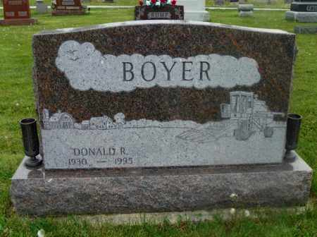 BOYER, DONALD R. - Shelby County, Ohio | DONALD R. BOYER - Ohio Gravestone Photos